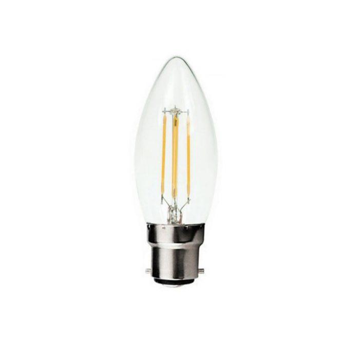 Candle B22 4W LED Globe Clear - LEDCAN4WB22CL - PW - CW - WW