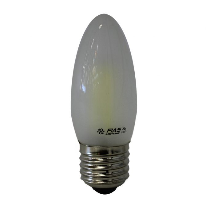 Candle E27 4W LED Globe Frosted - LEDCAN4WE27FR - PW - CW - WW