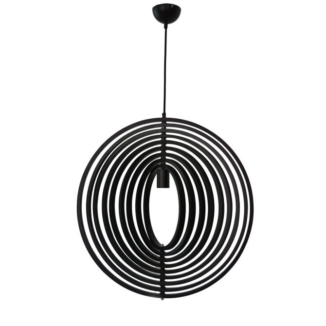 Helical 600 Black Pendant Light - P1214HEL60BL