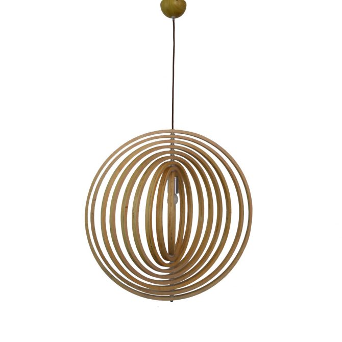 Helical 600 Wooden Pendant Light - P1213HEL60WDN