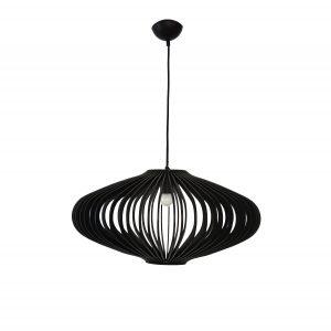 Jaafar 360 Black Pendant Light - P1115JAA36BLK