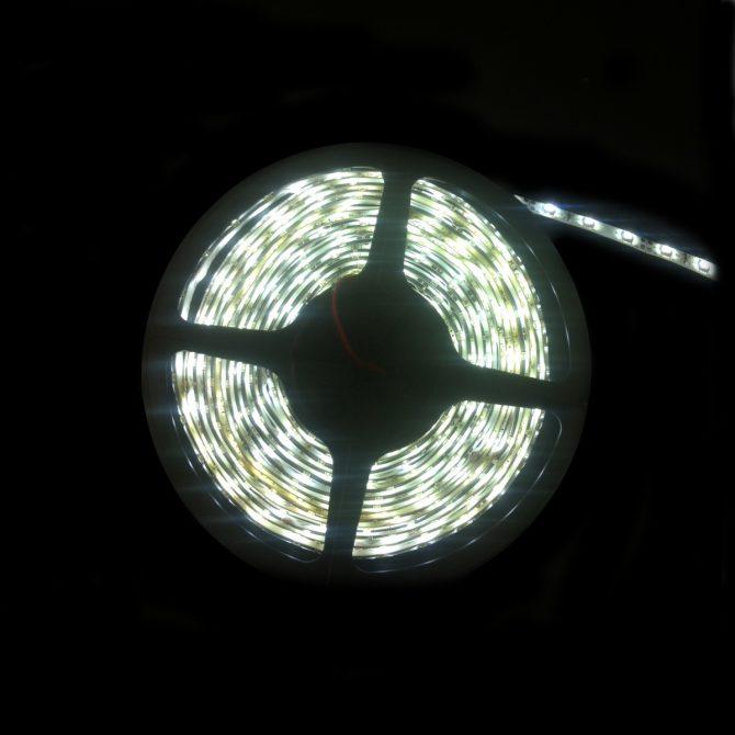 LED IP68 Strip Light 5m Pure White 3528 - LEDIP68PW3528