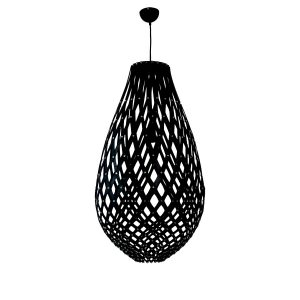 Ovaloid 400 Black Pendant Light - P1111OVA40BLK