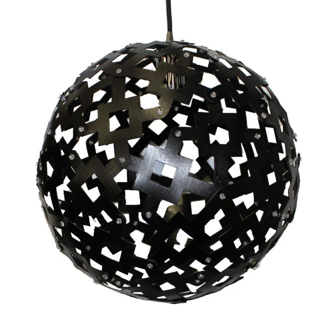 Solis 400 Black Pendant Light - P1095SOL40BLK