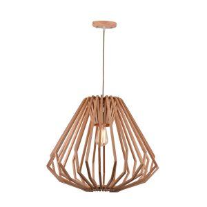 Web 550 Wooden Pendant Light - P1059WEB550