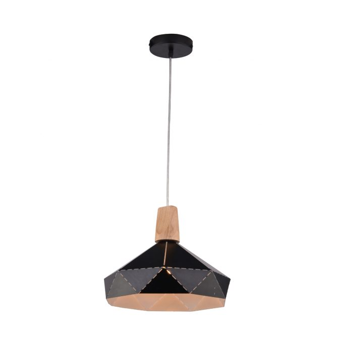 Illusion 300 Large Black 1 Light Pendant - P1235ILL30BLK