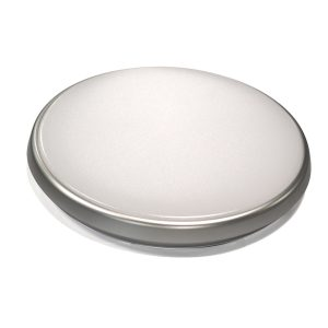 Round 18W LED Ceiling Light - Silver Frame in Cool White - LEDOYS18WRNDSILCW