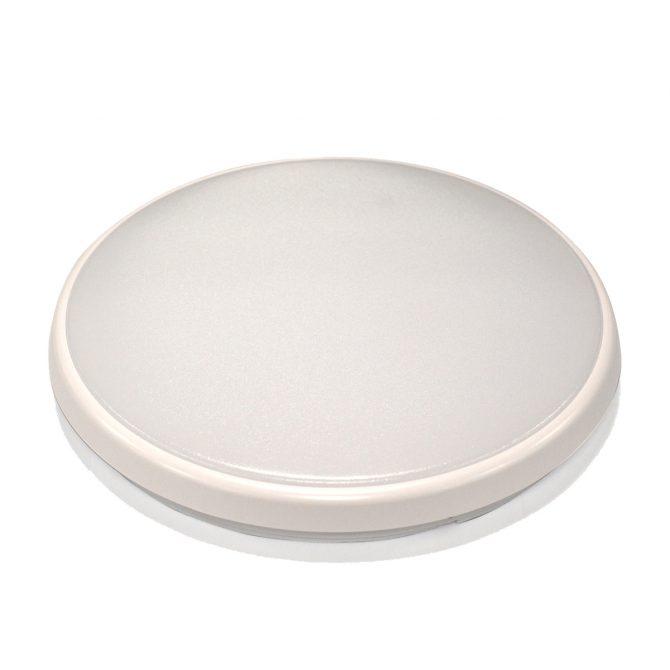 Round 28W LED Ceiling Light - White Frame in Cool White - LEDOYS28WRNDWHCW