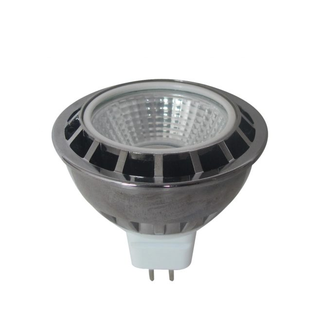 5w COB MR16 LED GREEN Globe - LEDMR16GRCOB5W