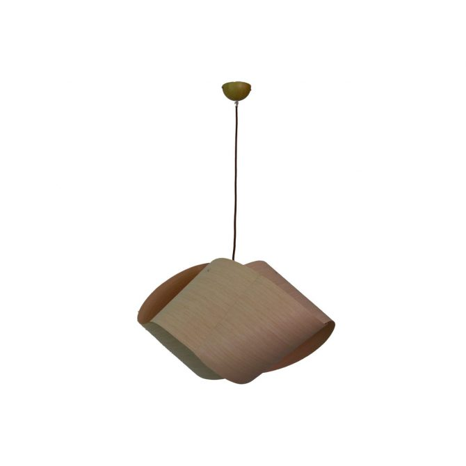 Alpha 400 Wooden Pendant Light - P1207ALPH40WDN
