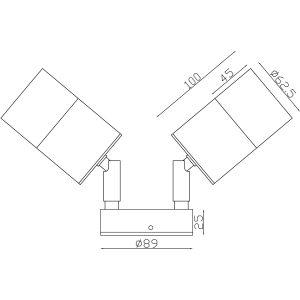 Aluminium Black Exterior Double Adjustable Dimesions - EXTDABLK