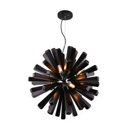 Burst 720 Black Pendant Light - P1121BUR72BLK