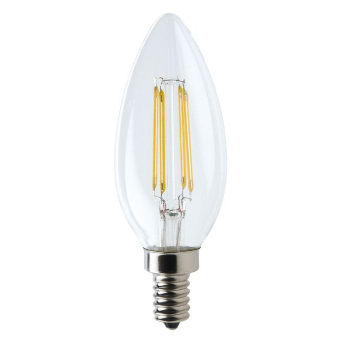 Candle E14 4W LED Globe Clear - LEDCAN4WE14CL - PW - CW - WW