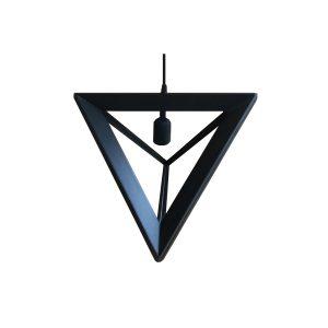 Pyramid 400 Black Pendant Light - P1045PYRAMID400B