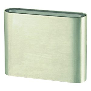 Micro Mini LED Outdoor Brushed Chrome Wall Light - EXTLED1009