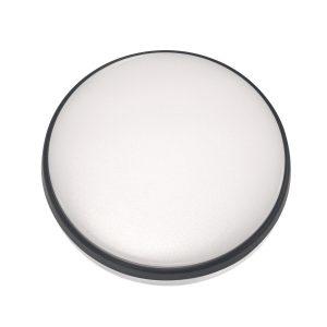 Round 18W LED Ceiling Light - Black Frame in Cool White - LEDOYS18WRNDBLCW