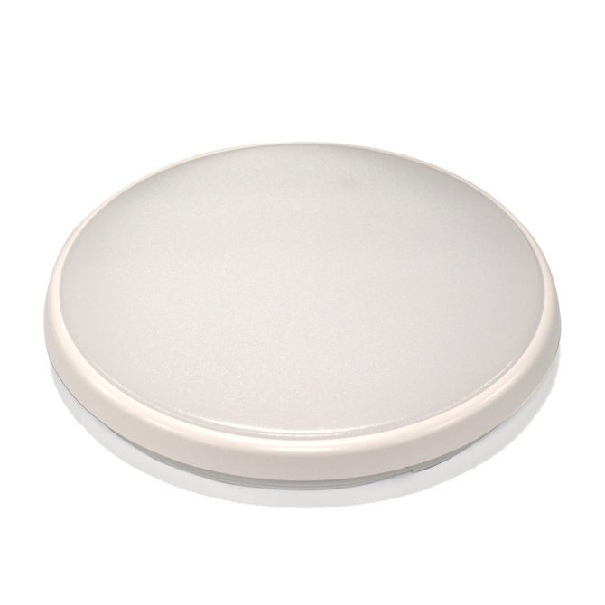 Round 18W LED Ceiling Light - White Frame in Cool White - LEDOYS18WRNDWHCW