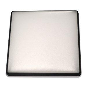 Square 18W LED Ceiling Light - Black Frame in Cool White - LEDOYS18WSQRBLCW