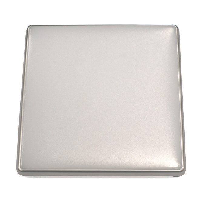 Square 18W LED Ceiling Light - Silver Frame in Cool White - LEDOYS18WSQRSILCW