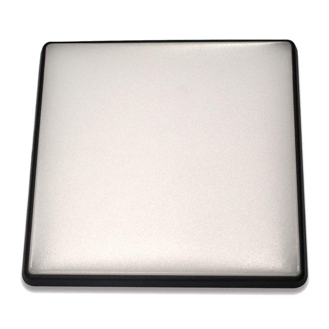 Square 28W LED Ceiling Light - Black Frame in Warm White - LEDOYS28WSQRBLWW