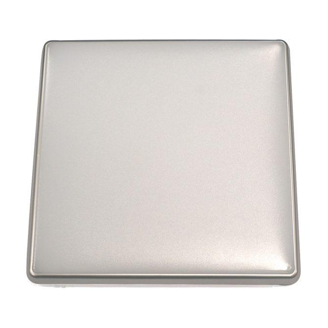 Square 28W LED Ceiling Light - Silver Frame in Cool White - LEDOYS28WSQRSILCW