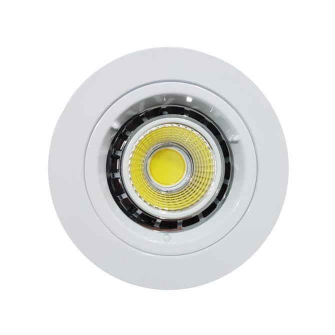 6w COB GU10 LED Downlight Kit 70mm wh