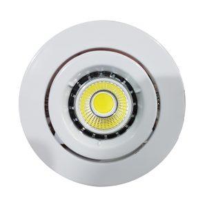 6w COB GU10 LED Downlight Kit 90mm wh